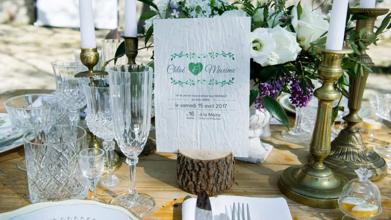 Faire part ensemence mariage My Green Event