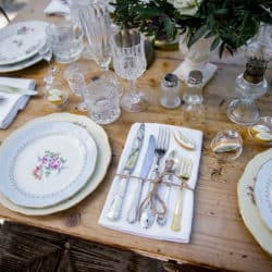 Vaisselle vintage mariage My Green Event
