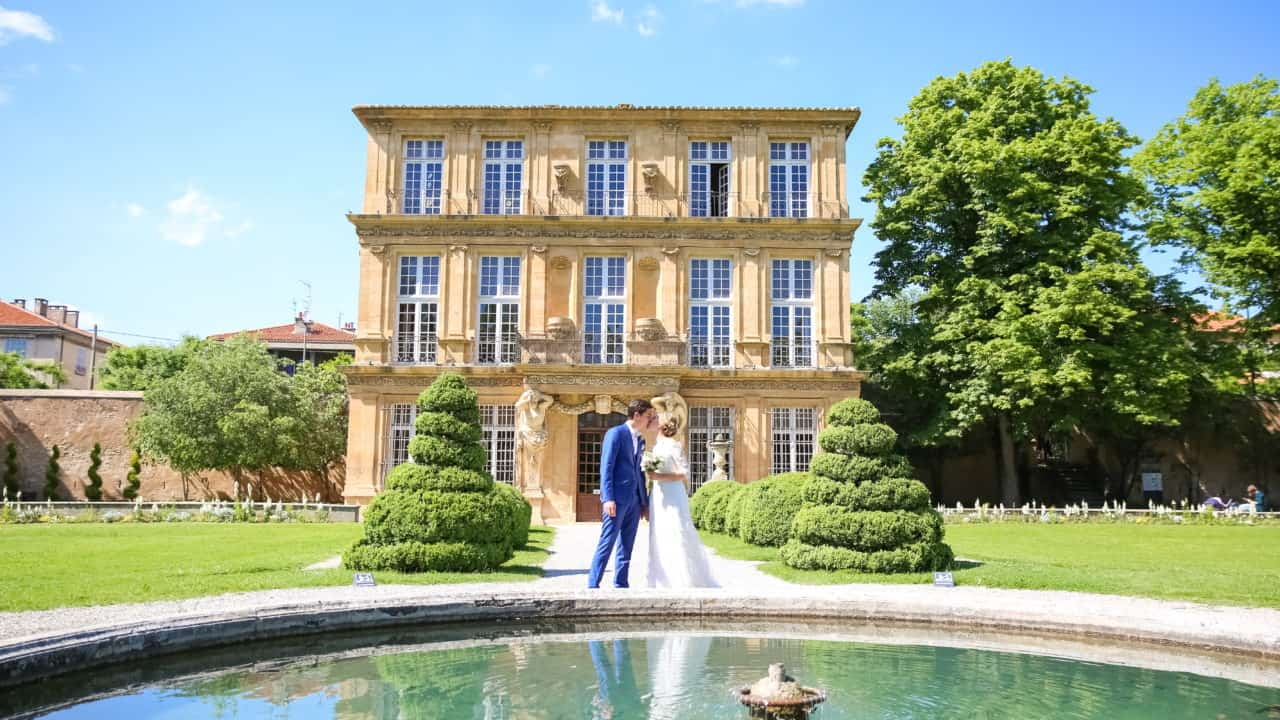 Photo Couple Pavillon Vendome Aix en provence My Green Event
