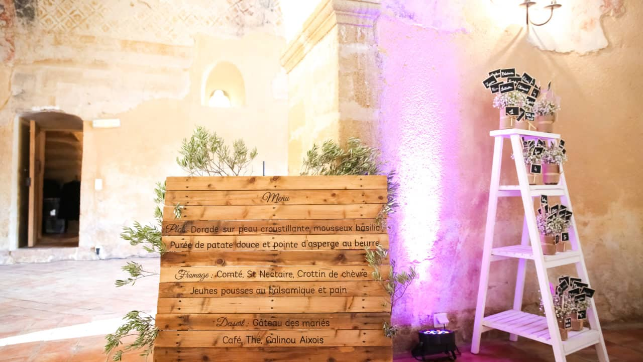 Palette menu mariage My Green Event